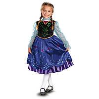 Карнавальный костюм принцесса Анна Холодное сердце  Deluxe Anna Frozen Оригинал