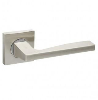 Ручка дверная Fuaro ROCK KM SN/CP-3 матовый никель/хром