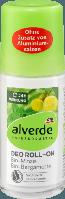 Alverde Шариковый дезодорант Deo Roll-On Minze Bergamotte, 50 мл