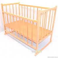 Кроватка-качалка детская деревянная Ольха №3