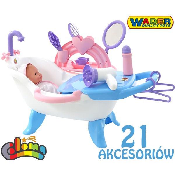 Ванночка з лялькою + 21 аксесуар Wader 47243