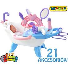 Ванночка с куклой и аксессуарами Wader 47243