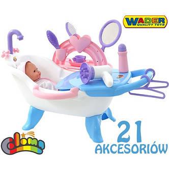 Ванночка з лялькою + 21 аксесуар Wader 47243, фото 2
