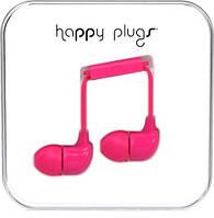 Яркие цветные наушники с микрофоном happy plugs in ear 3.5 мм jack, фото 1