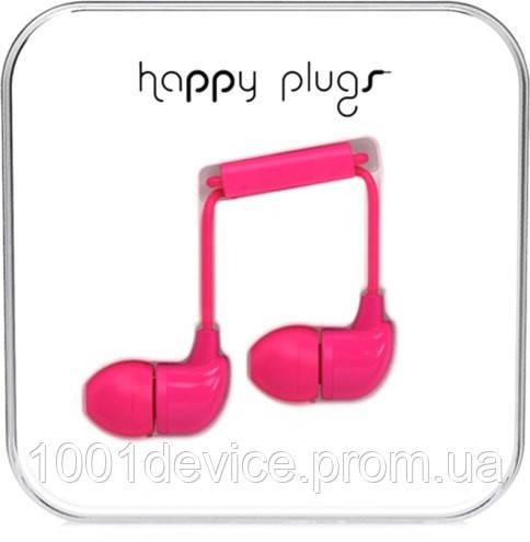 Яркие цветные наушники с микрофоном happy plugs in ear 3.5 мм jack