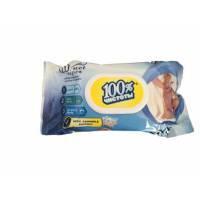 Влажные салфетки с пластиковой крышкой для детей с экстрактом ромашки