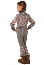 """КОСТЮМ детский шерстяной """"Степашка"""" (свитер + лосины), цвет серый, на рост 104 см, фото 3"""