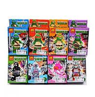 Лего LELE Tortlez (78016) Fishface Черепашки Ниндзя Фигурка супергероя, карточки 3шт