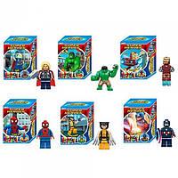 Лего ОдВи Конструктор супергерой, на подставке, карточка, 6 видов, в кор-ке