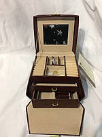Шкатулка для бижутерии и украшений бордовая