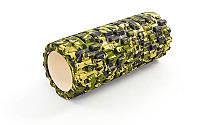 Роллер массажный GRID Roller мультиколор коричнево-зеленый