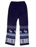 """Детские шерстяные брюки """"Олени"""" для мальчика, цвет синий,"""