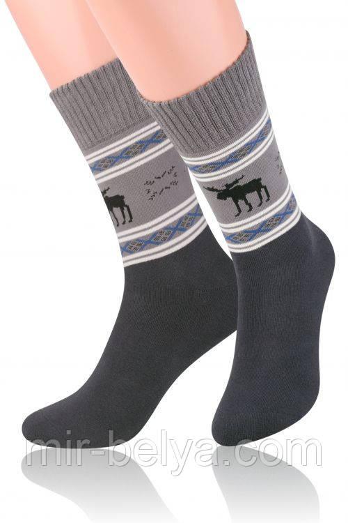 Качественные мужские новогодние носки махровые теплые