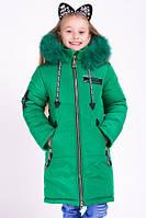 Зимнее модное пальто для девочки.Мода.
