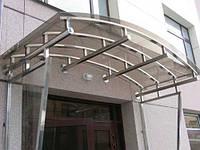 Козырьки из стекла и металла, фото 1