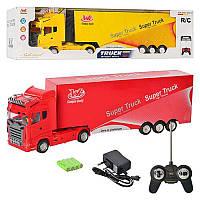 Трейлер на радиоуправлении Super Truck, 58см: аккумулятор, свет + звук