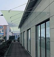 Стеклянные козырьки из закаленного стекла, фото 1