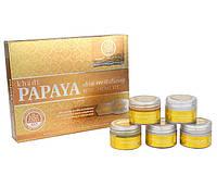 Кхади подарочный набор для лица Папайя, Khadi Papaya mini facial kit, 75 гр