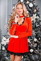 Платье женское из бархат-велюра А9010