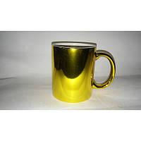 Чашка металлик (зеркальная ) золото