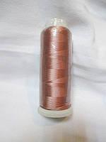 Нитки для машинної вишики 100% віскоза (100% rayon) 3000 ярдів, №481, рожева пастельна темна