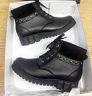 Женские ботинкочки на утолщенной подошве от производителя