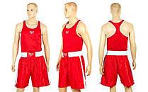 Форма боксерська ELAST МА-6011-R (PL, pp XS-XL, червоний)