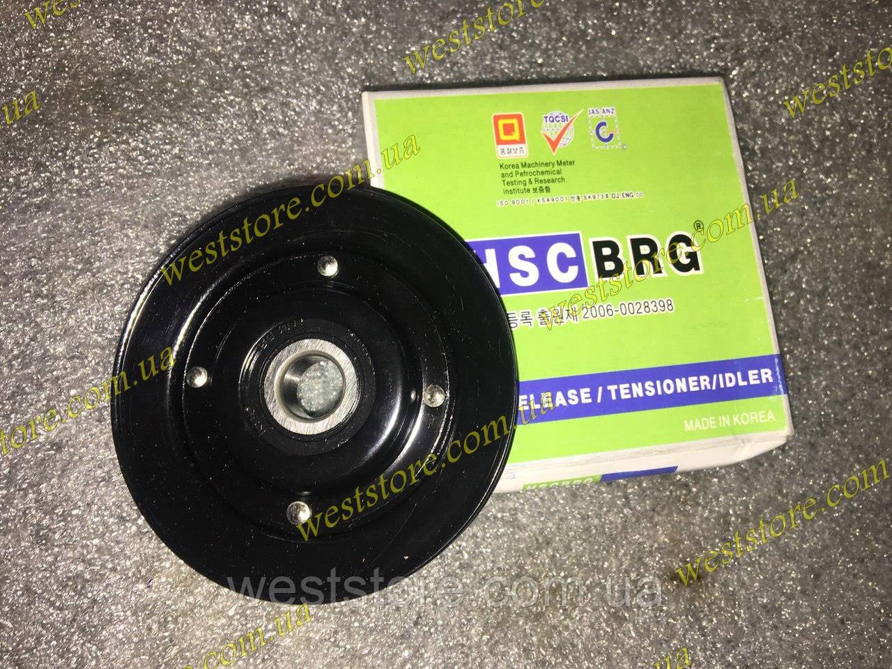 Ролик (шкив) натяжной ремня кондиционера Ланос Lanos HSC 96208428 \ 25188374