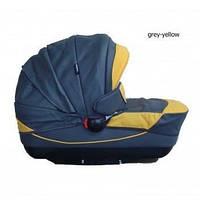 Класcическая коляска 2 в 1 Kajtex Tramonto grey-yellow