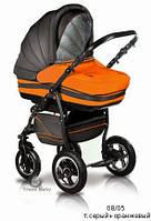 Универсальная коляска 2 в 1 Trans Baby Mars 08/05 (т.серый+оранжевый)