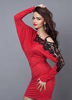 Платье-туника с кружевом (3 цвета)