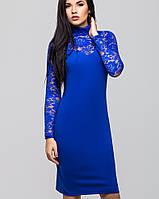 Нарядное платье с гипюром | Жаклин leo электрик