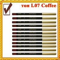 Карандаш для Губ и Глаз, цвет Coffee Матовый, Косметические Adoro L07, Оптом
