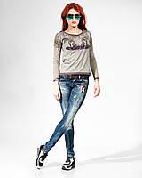 Комплект. Джинсы и кофта Raw 5618-3659 стильные женские брюки, шорты
