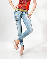 Джинсы Lady Forgina кнопки жёлтый ремень 0584 стильные  женские шорты, джинсы, брюки, штаны женская одежда