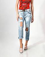 Джинсы Lady Forgina рванка белый ремень 0690-2 стильные  женские шорты, джинсы, брюки, штаны женская одежда