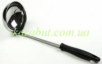 Половник большой с чёрной ручкой_0,150л