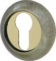 Накладка CYLINDER ET-1AB/SG-6 бронза/матовое золото 2шт.
