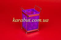 Подставка для ложек и вилок цветная квадратная H18см