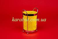Подставка для ложек и вилок цветная круглая H15см D10,5см