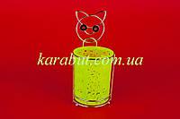 Подставка для ложек и вилок навесная цветная круглая H15см B10,5см