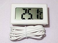 Цифровой термометр LCD (ЖК) -50+110 грд белый