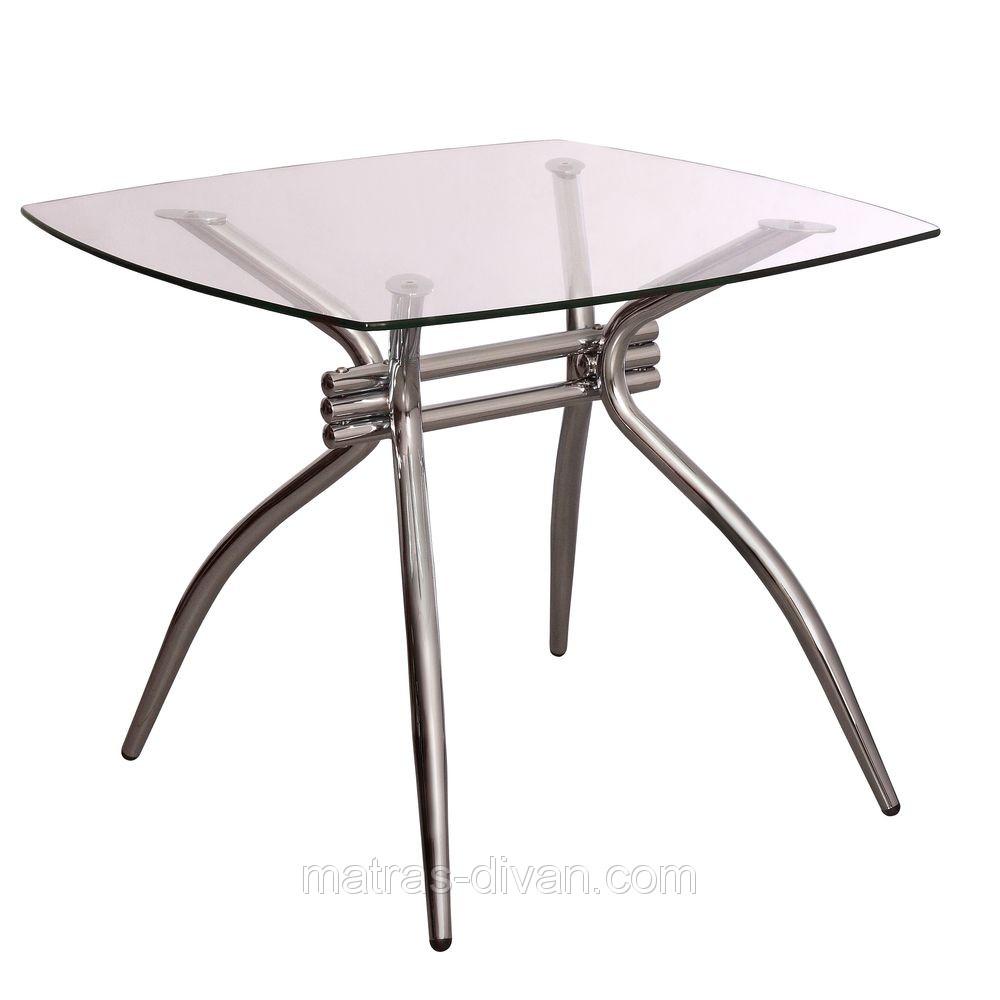 Стол Оскар хром/стекло 90х90х75