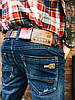 Джинсы мужские  утеплённые Ritter 0050  мужская одежда стильные брюки джинсы шорты