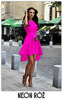 Платье женское красивое асиметричное  веер без рукава