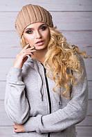 Шапка зимняя. Шапка женская. Теплая зимняя шапка. Шапка спорт таупе. Женская шапка.