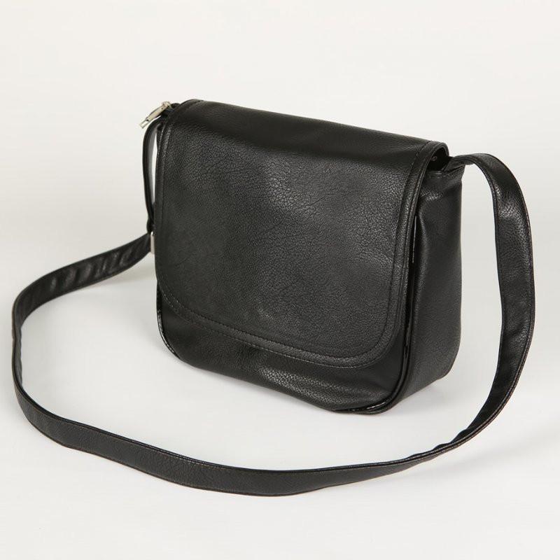 989548212de7 Маленькая сумка М52-47 черная матовая через плечо классической формы  женская молодежная, фото 1