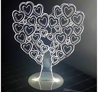 Светильник Оптический обман Сердца