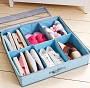 Органайзер для обуви на 6 ячеек, 60х16х60 см. голубой