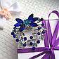 """Шикарная брошка """"Наоми"""" синяя, в подарочной упаковке., фото 2"""